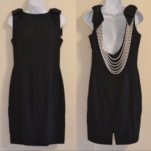 VTG 1990s AJ Bari Black and Pearl Dress